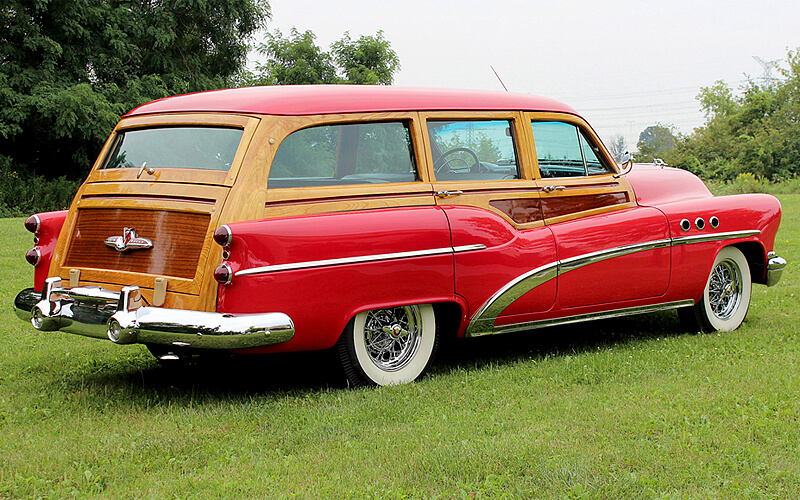 The 1953 Series 50 Woody Estate Wagon was a favorite of wealthy