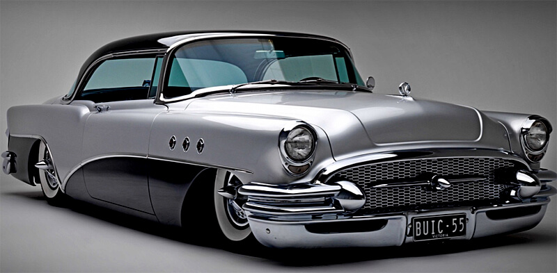 Among car customizers, mid 50s Buick are popular candidates for restomodding.
