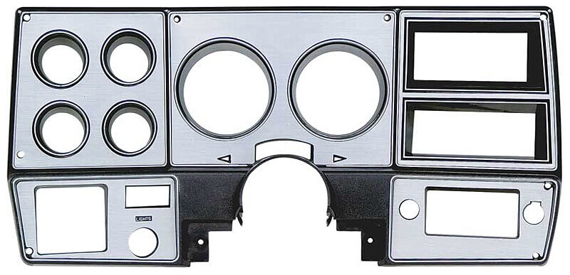 '78-'80 dash bezel with a brushed aluminum finish