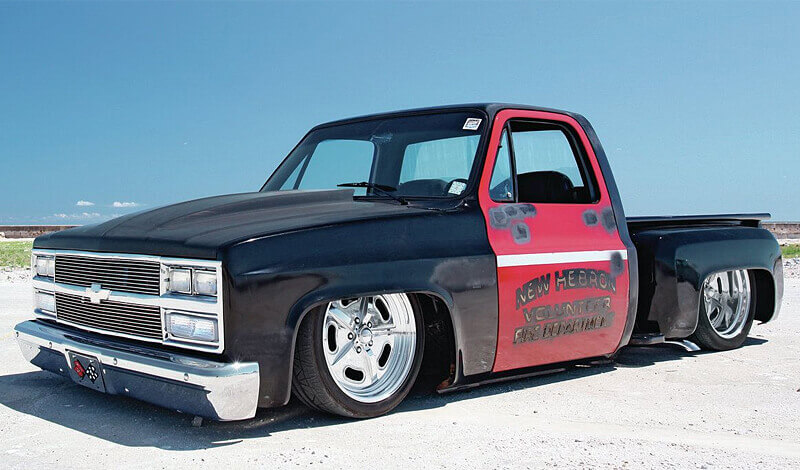 1980's C-10s look great slammed to the ground