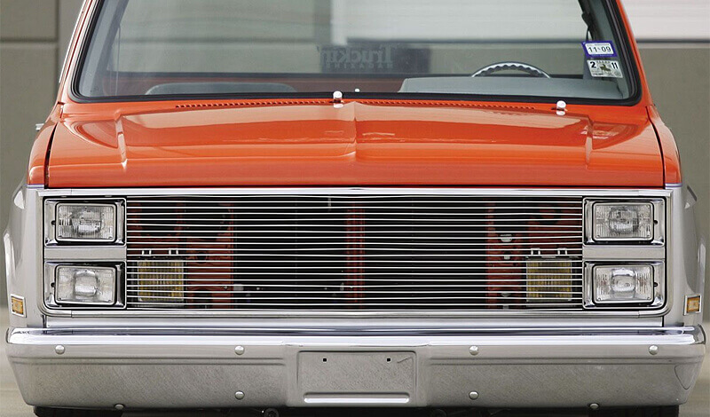 Customize your truck with a billet aluminum grille
