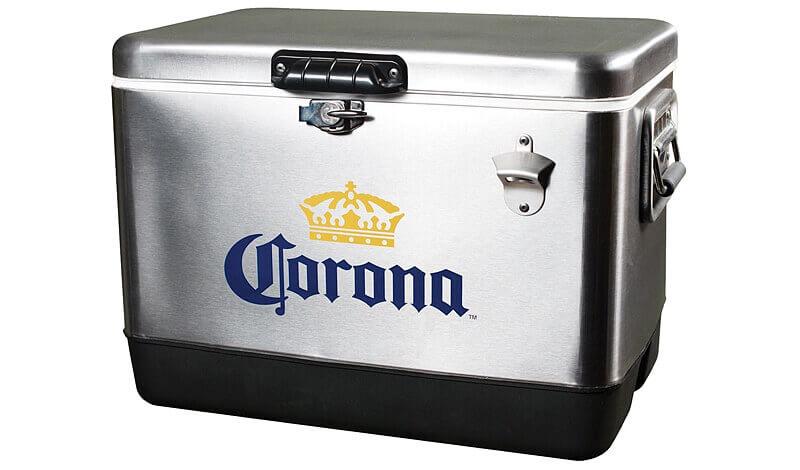 Corona Stainless Steel Ice Chest by Koolatron